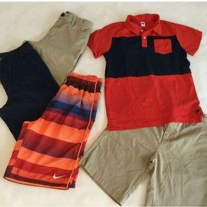 Boys 12 Shorts Shirt Swim Trunks LOT Nike Summer